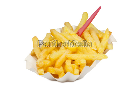 fries with fork