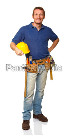 standing construction worker portrait