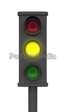 yellow 3d traffic lights black