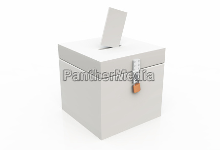 3d blank ballot box 02 white