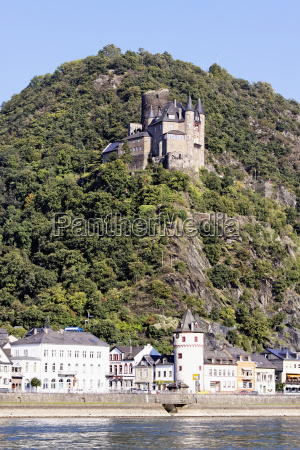 historical rhine fortress chateau castle
