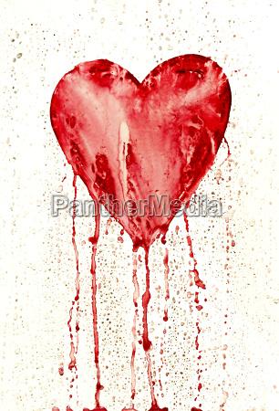 broken heart bleeding heart