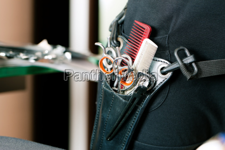 scherentasche or hosters of hairdressing