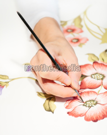hand painting floral design