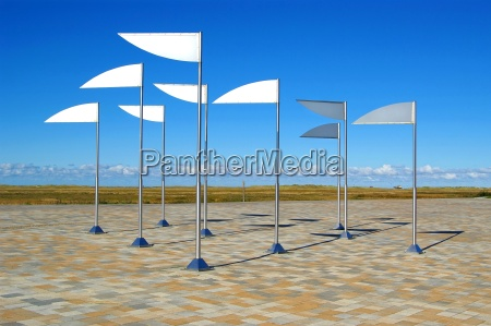 flags in st peter ording