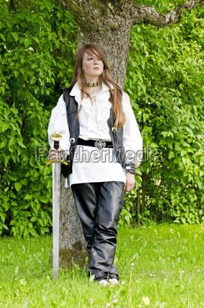girl in medieval costume