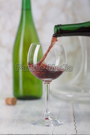 full of wine