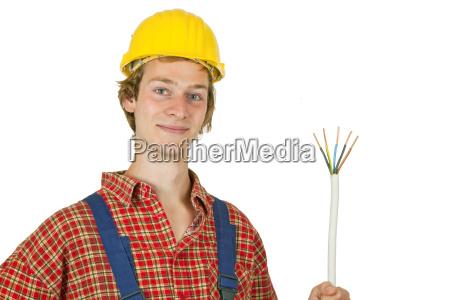 satisfied electrician
