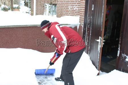 inverno geada neve homem minusgrade schneeschieber
