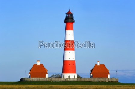 lighthouse westerhever north sea watt