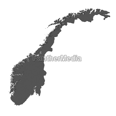 map of norway isolated