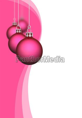 christmas balls with waves red 01
