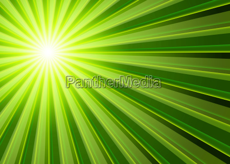 background rays of light green