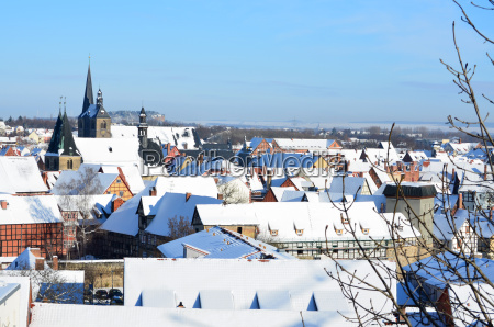 roofs of quedlinburg germany