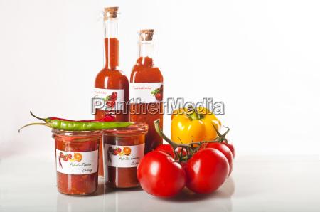 boiled tomato ketchup and chutney