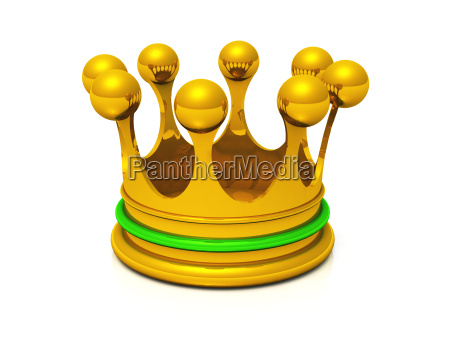crown gold green