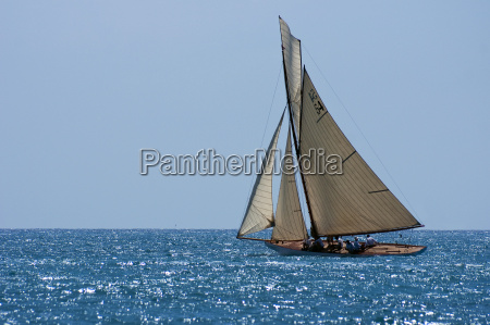 classic yacht in the mediterranean