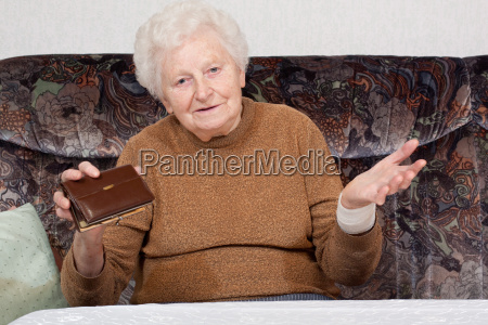 granny with an empty wallet