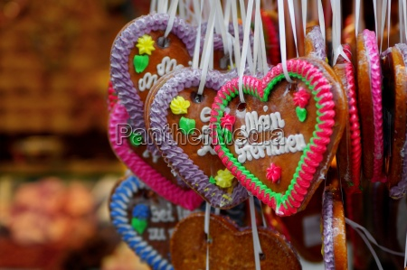 gingerbread heart on the fairground