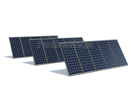 solar modules against a white background