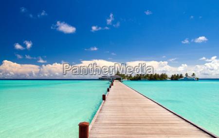 wood bridge to the beach a