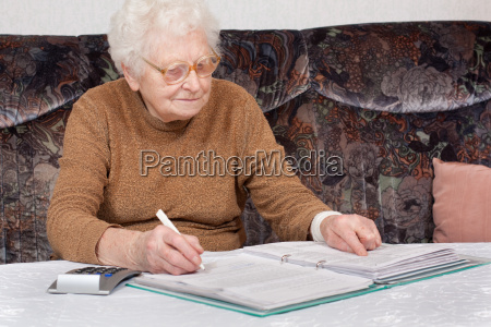 granny with file folders 2