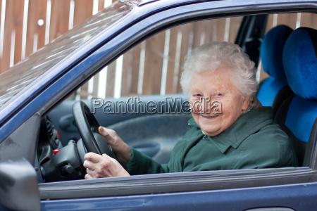 drive the car grandma