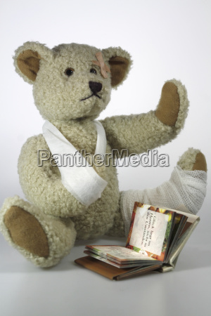 reading violent teddy bear