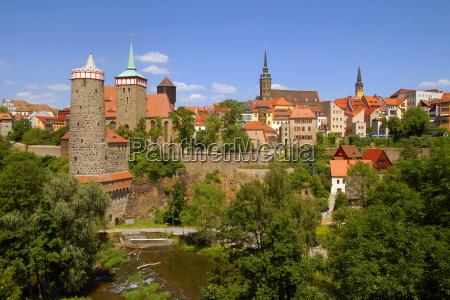 torre cidade cidade velha parede saxonia
