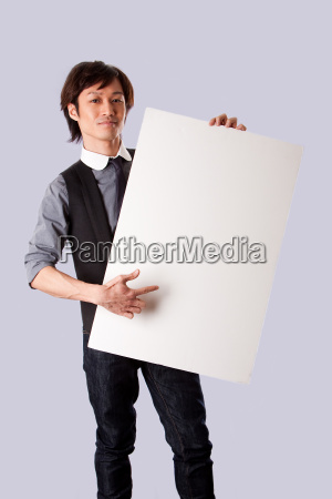 asian business man pointing whiteboard