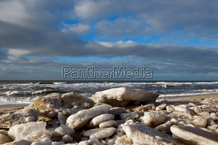 ice floes on the beach