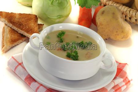 vegetable carrot parsley kohlrabi potato soup