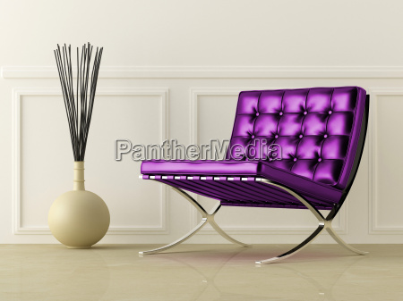 violet leather seat