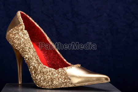 gold shoe blue 06
