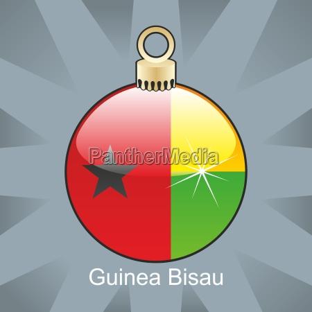 guinea bissau flag christmas bulb