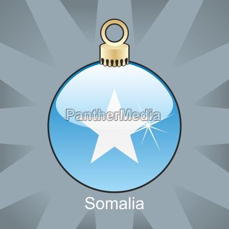somalia flag in christmas bulb shape
