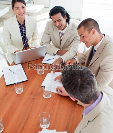 self assured business people in a
