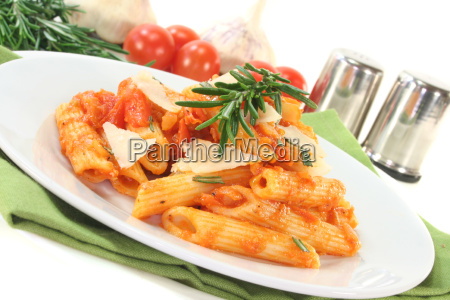 penne with tomato sauce and parmesan