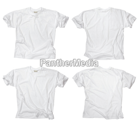 blank white t shirts front and