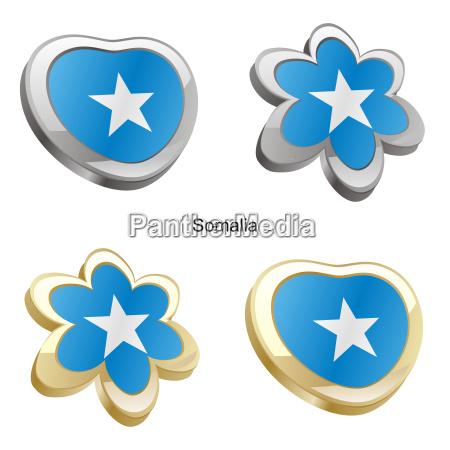 somalia flag heart and flower form
