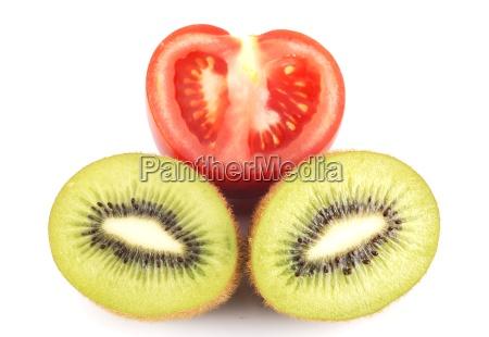 beautiful tomato and kiwi pattern