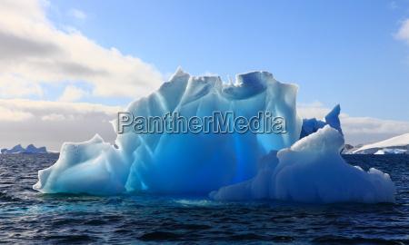 wonderful iceberg nearly transparent in
