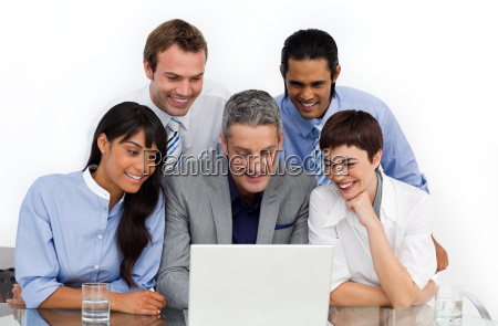 a business group showing diversity using