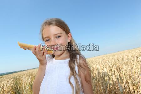 closeup of little girl holding slide