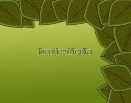 abstract leaf border