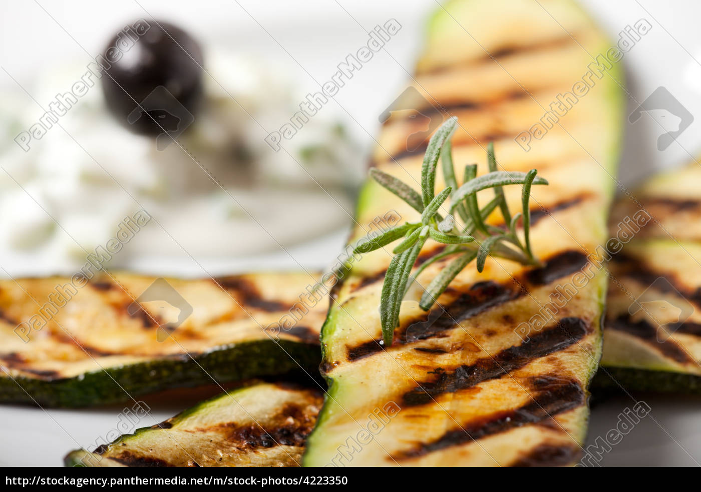grilled, zucchini, with, rosemary, leaf - 4223350