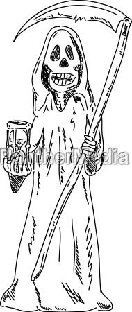 grim reaper with sandglass