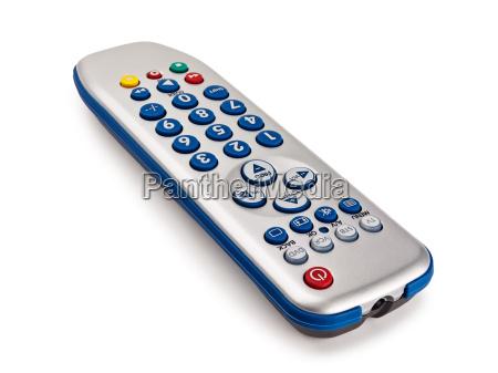 single remote control over the white