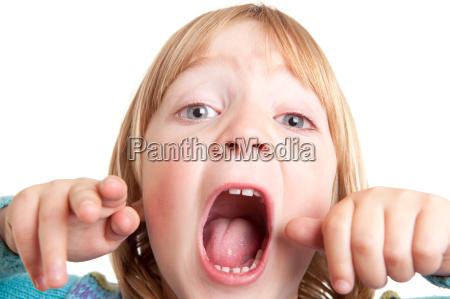 shout child scream isolated
