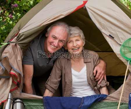 happy, couple, camping, in, the, garden - 4241959